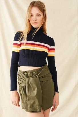 Urban Renewal Vintage Recycled Surplus Tie-Front Skirt