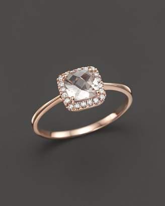 Bloomingdale's Morganite and Diamond Ring in 14K Rose Gold - 100% Exclusive