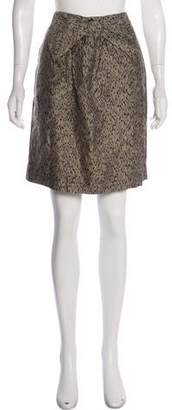 Vineet Bahl Bow-accented Knee-Length Skirt w/ Tags