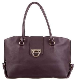 Salvatore Ferragamo Leather Gancio Tote Bag
