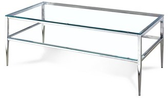 Furniture of America Sparling Contemporary Glass Coffee Table, Chrome