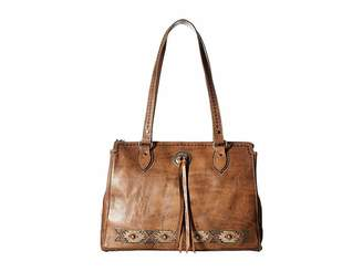 American West Native Sun Zip Top Tote w/ Secret Compartment
