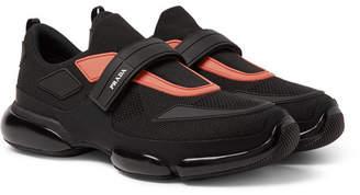 Prada Cloudbust Mesh And Rubber Sneakers