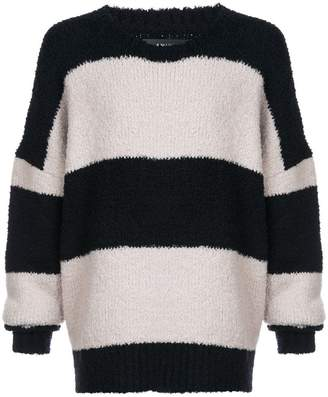 Amiri stripe oversized sweater