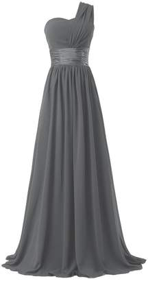 Ouman Women's Chiffon One Shoulder Bridesmaids Dresses
