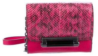 Diane von Furstenberg Embossed Leather Chain-Link Crossbody Bag