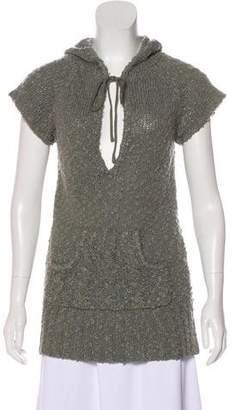 Max Mara Short Sleeve Knit Sweater