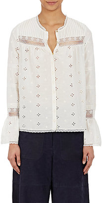 Ulla Johnson Women's Eyelet Inga Blouse $315 thestylecure.com