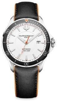 Baume & Mercier Clifton Club 10337 Stainless Steel& Leather Strap Watch