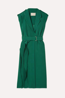 Jason Wu Collection - Wrap-effect Layered Crepe Dress - Forest green