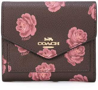 Coach Rose print small wallet