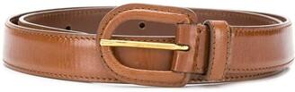 Prada curved buckle belt