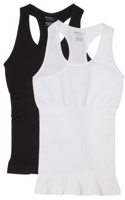 2pk Seamless Racerback Shaping Tanks
