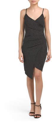 Juniors Lurex Shine Wrap Dress