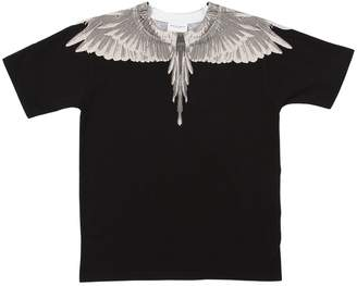 Marcelo Burlon County of Milan Wings Printed Cotton Jersey T-Shirt