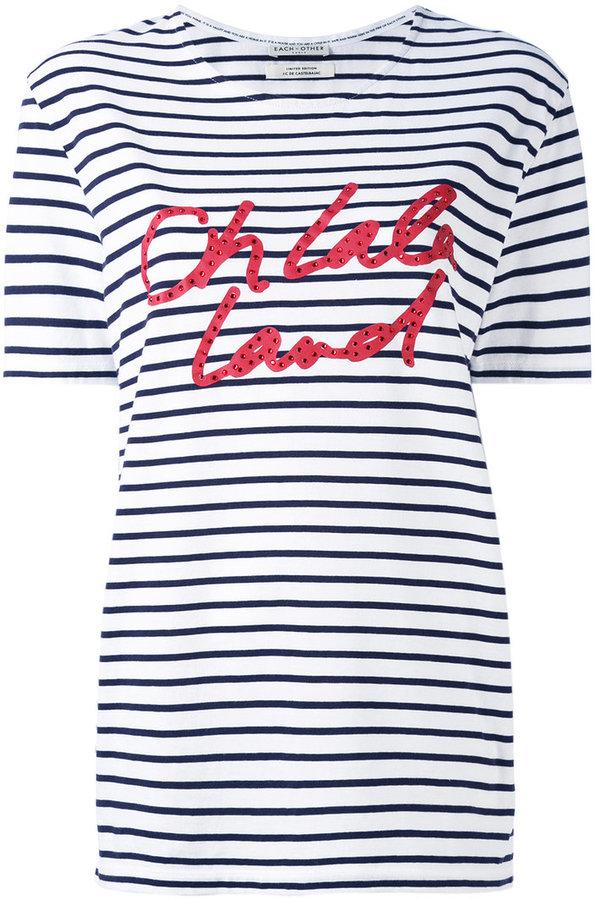 Each X Other striped boyfriend T-shirt