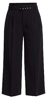 RED Valentino Women's Belted Stretch Cropped Pants