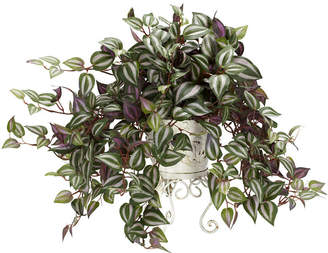 Asstd National Brand Nearly Natural Wandering Jew With Metal Planter Silk Plant