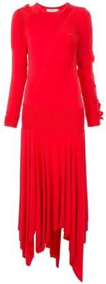 Preen Line ruffle detail sweater dress