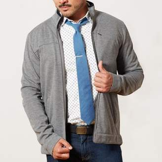 Blade + Blue Grey Heather Soft-Shell Knit Jacket