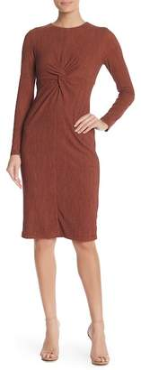 Maggy London Space Dye Knit Front Twist Dress