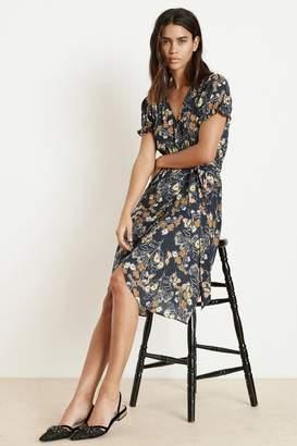 b901e072 Velvet by Graham & Spencer Velvet By Graham Spencer Meadow Floral Printed  Challis Wrap Dress