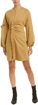 Tibi Ruffle Sheath Dress