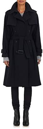 Yohji Yamamoto Regulation Women's Double-Breasted Wool-Blend Trench Coat