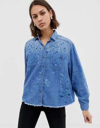 Pepe Jeans Painted Denim Shirt