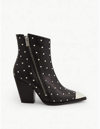 The Kooples Leather Western-style studded boots