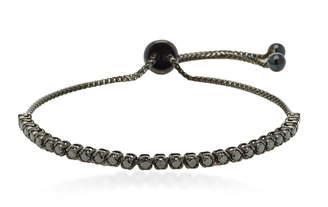 Black Diamond Graziela Bolo Rhodium-Plated 18K Gold and Bracelet