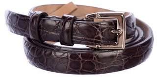 Gucci Skinny Alligator Belt