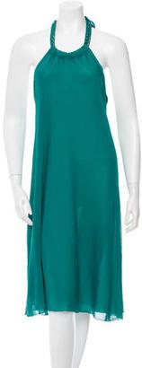 Jean Paul Gaultier Halter Neck Midi Dress $145 thestylecure.com