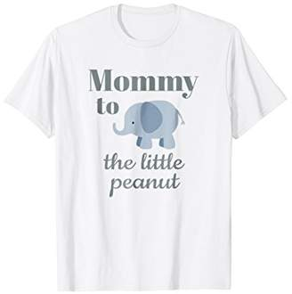 Matching Baby Shower Couples Shirt Elephant Mommy Peanut