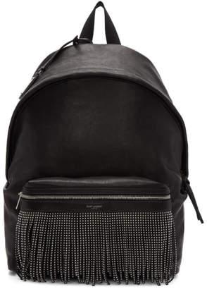 Saint Laurent Black Fringes City Backpack