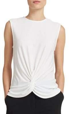 Donna Karan Front Twist Sleeveless Top