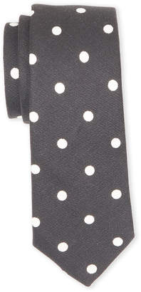 Burberry Linen & Silk Polka Dot Tie