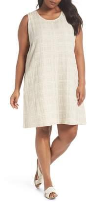 Eileen Fisher Organic Cotton & Linen Shift Dress