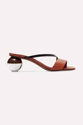 Neous - Gia Two-tone Leather Mules - Tan