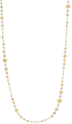 "Marco Bicego Unico Africa Beaded Necklace with Rough Diamonds, 36"" (34ct)"