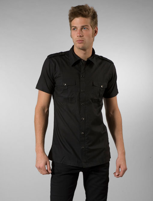 The Smooth Company Masina Button Up in Black