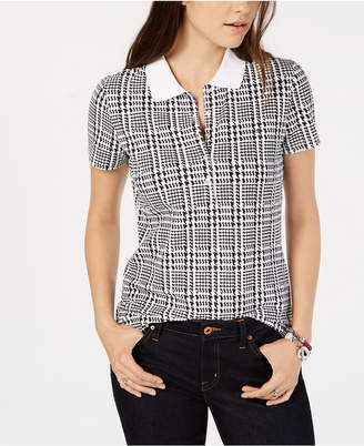Tommy Hilfiger Engineered Houndstooth Plaid Polo Shirt
