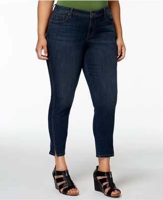 Style&Co. Style & Co Plus Size Split-Cuff Skinny Ankle Jeans, Created for Macy's