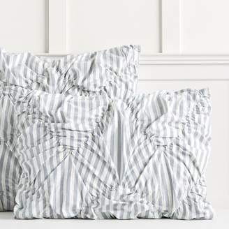 Pottery Barn Teen The Emily & Meritt Striped Sham, Standard, Chambray Blue