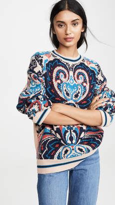 See by Chloe Printed Paisley Pullover