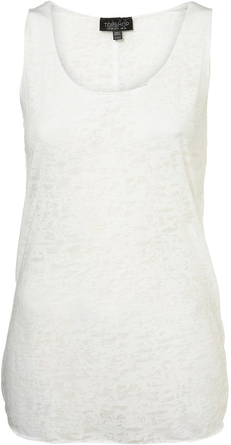 Scooped Neck Burn Out Vest