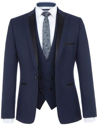 Lambretta Men's Cash Slim-Fit Jacquard Suit