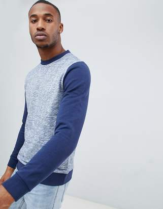 Asos DESIGN sweatshirt with fabric interest and contrast sleeves