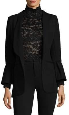 L'Agence Hutton Ponte Bell-Sleeve Blazer