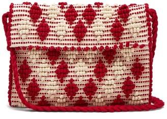 Antonello Tedde - Suni Rombetti Cotton Cross Body Bag - Womens - Red White